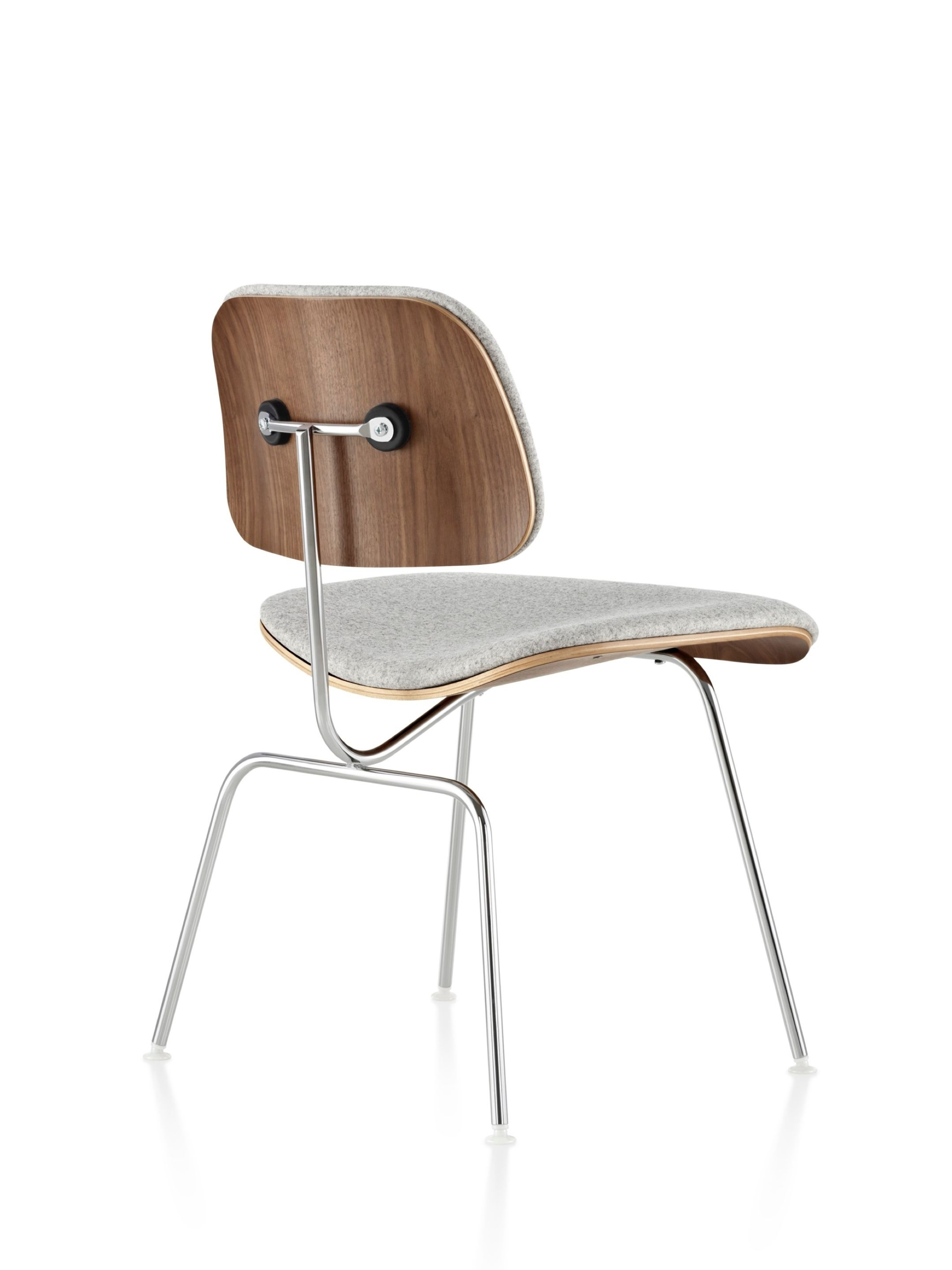 Clint Side Chairs Intended For Well Known Eames Molded Plywood Dining Chair With Metal Base Upholstered In (View 6 of 20)