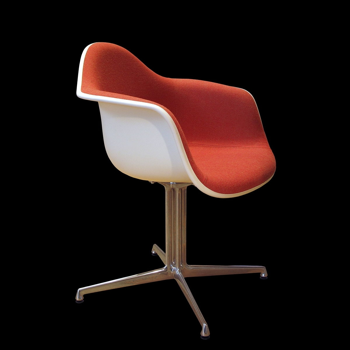 Cole Ii Orange Side Chairs With Regard To Latest Eames Fiberglass Armchair – Wikipedia (#6 of 20)