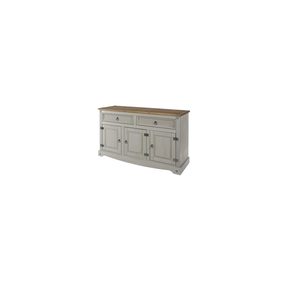 Corona Grey 2 Drawer & 3 Door Sideboard | The Furniture House In Most Recent 3 Drawer/2 Door White Wash Sideboards (#6 of 20)
