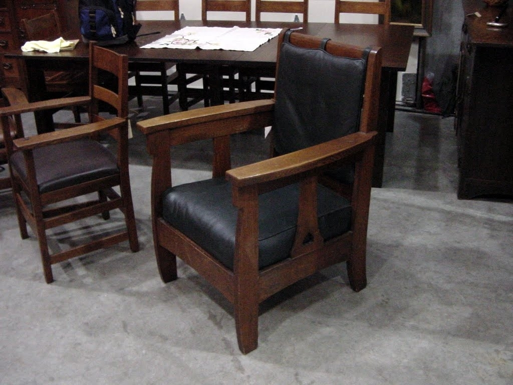 Craftsman Arm Chairs Intended For Most Up To Date Voorhees Craftsman Mission Oak Furniture – Limbert Arm Chair (#6 of 20)
