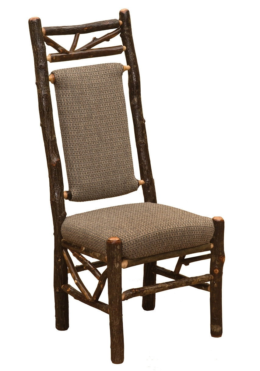 Craftsman Upholstered Side Chairs Inside Famous Fireside Lodge Hickory Twig Upholstered Side Chair (#5 of 20)