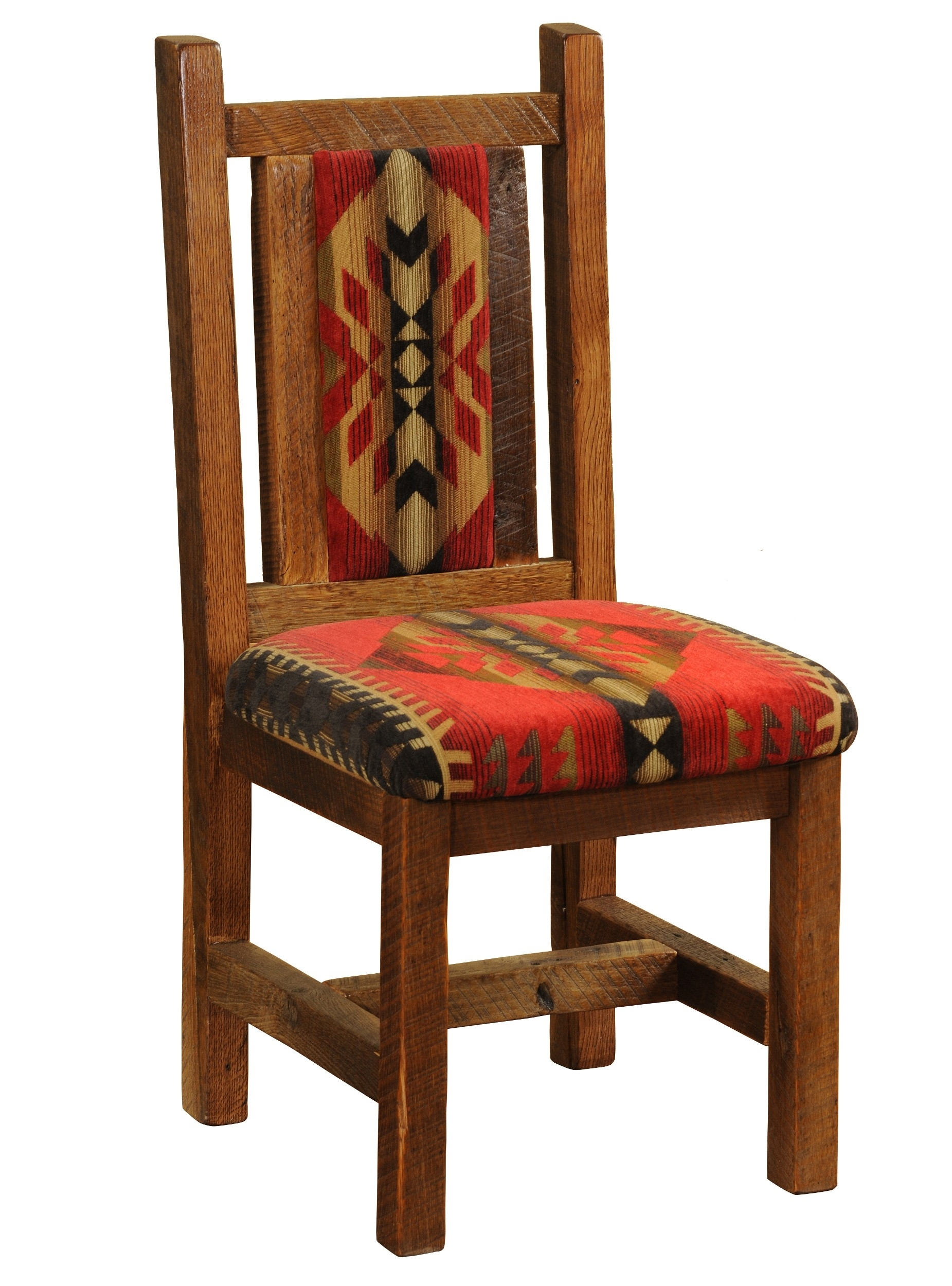 Craftsman Upholstered Side Chairs Within Best And Newest Barnwood Artisan Upholstered Side Chair (#6 of 20)