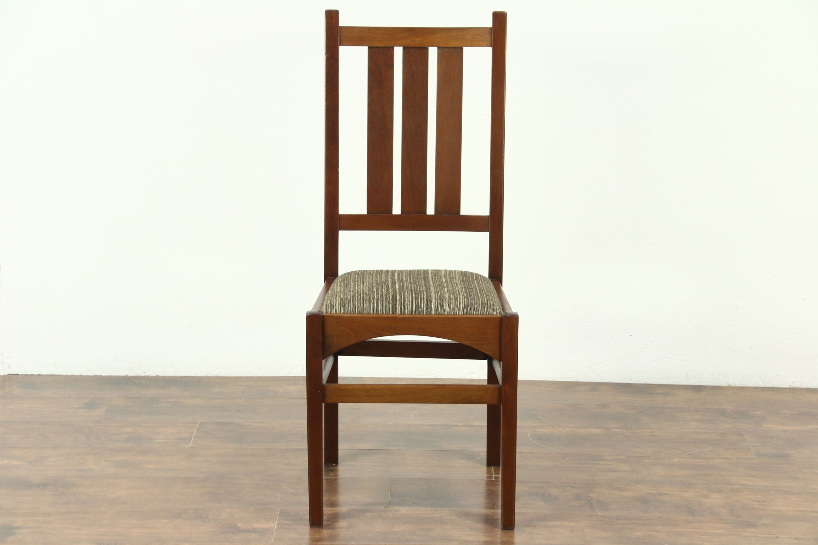 Craftsman Upholstered Side Chairs Within Best And Newest Sold – Arts & Crafts Antique Craftsman Desk Or Arm Chair, New (View 7 of 20)
