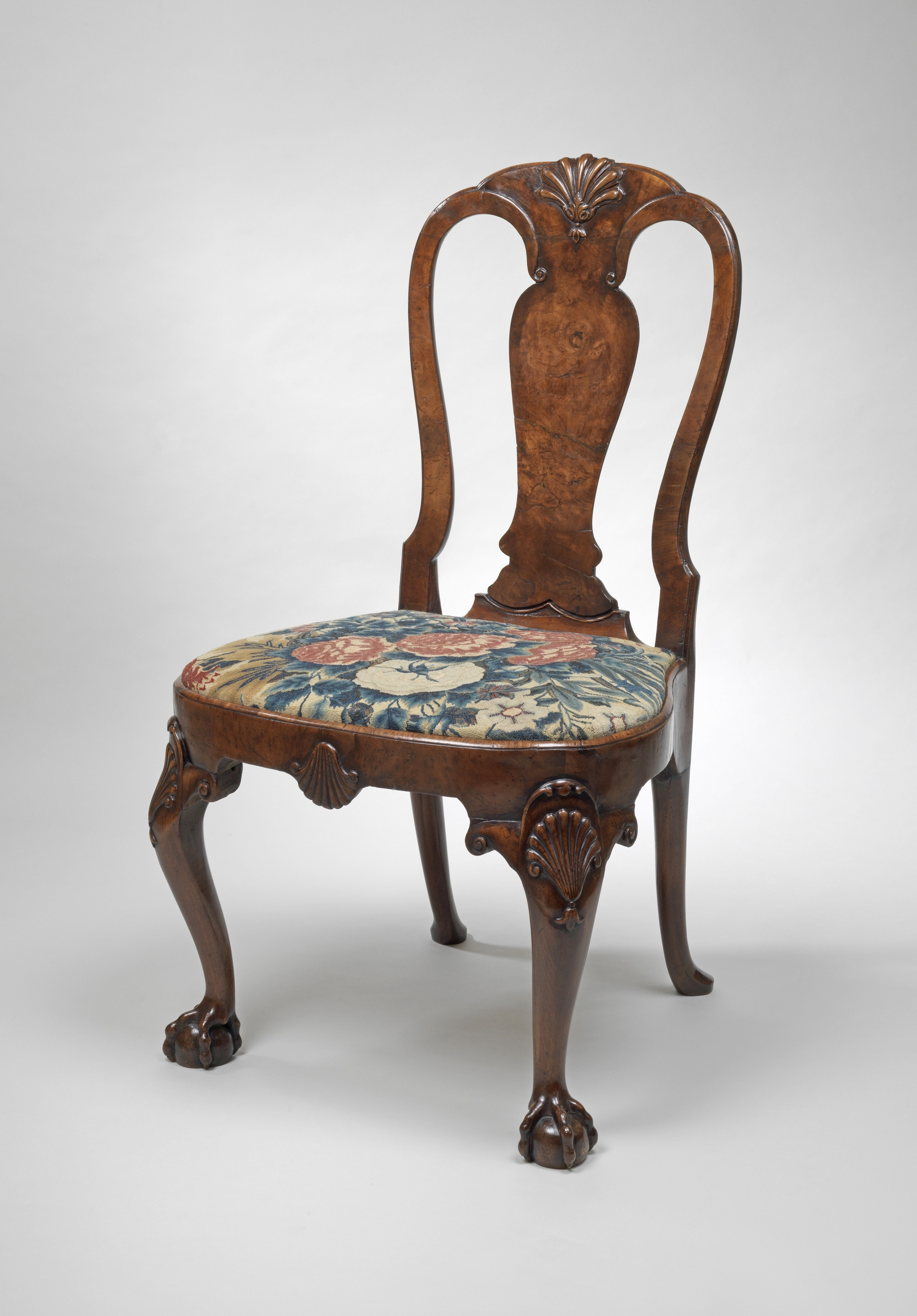 Current A Pair Of George Ii Burr Walnut Side Chairs (C (#5 of 20)