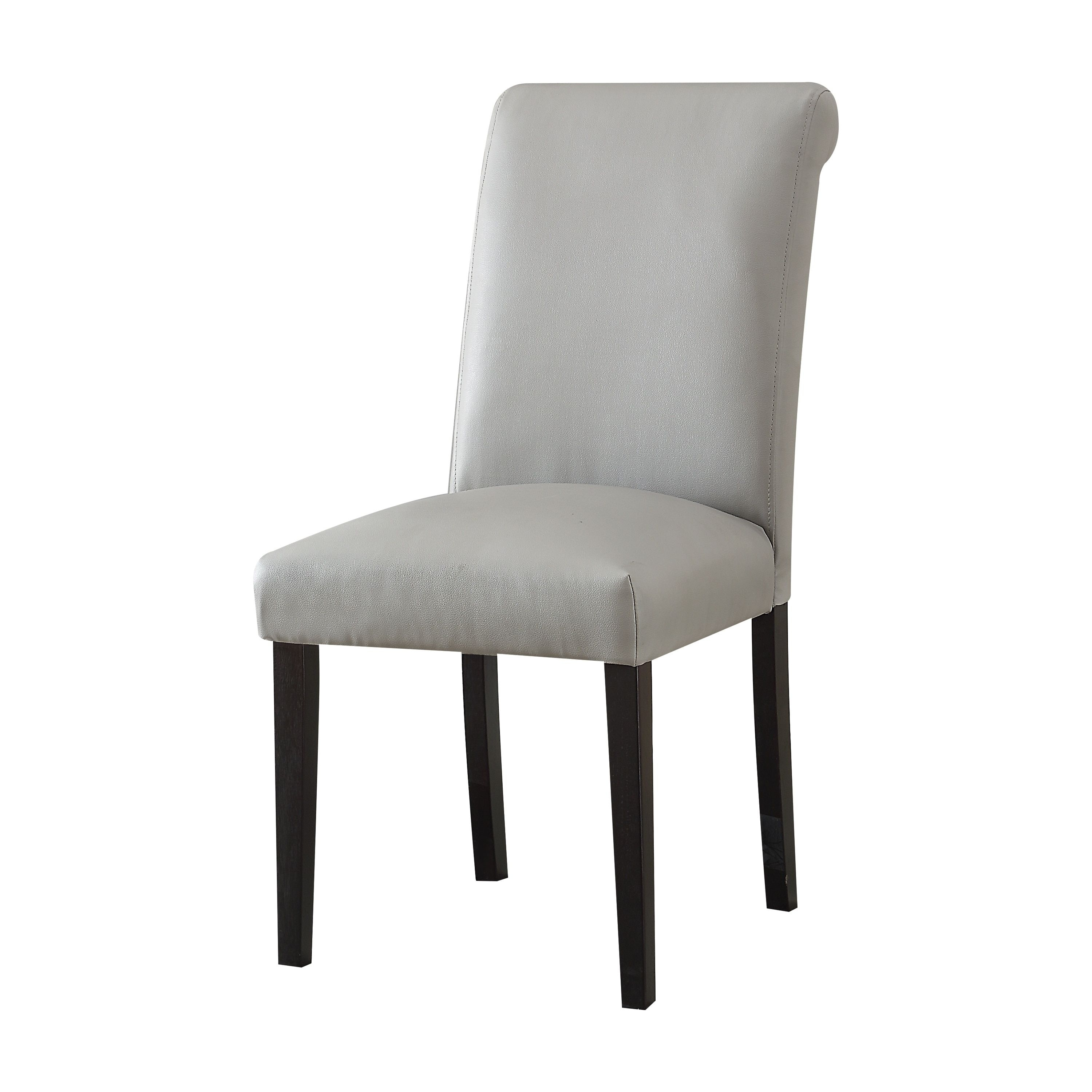 Current Acme Gregory Side Chair In Gray Faux Leather (Set Of 2), Grey (#7 of 20)