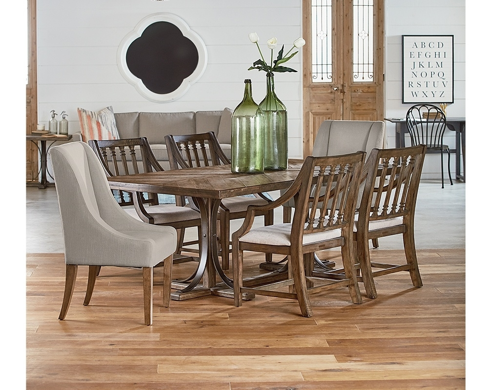 Current Magnolia Home Revival Jo's White Arm Chairs For Traditional Dining With Revival Chairs : Gamburgs Furniture (#3 of 20)