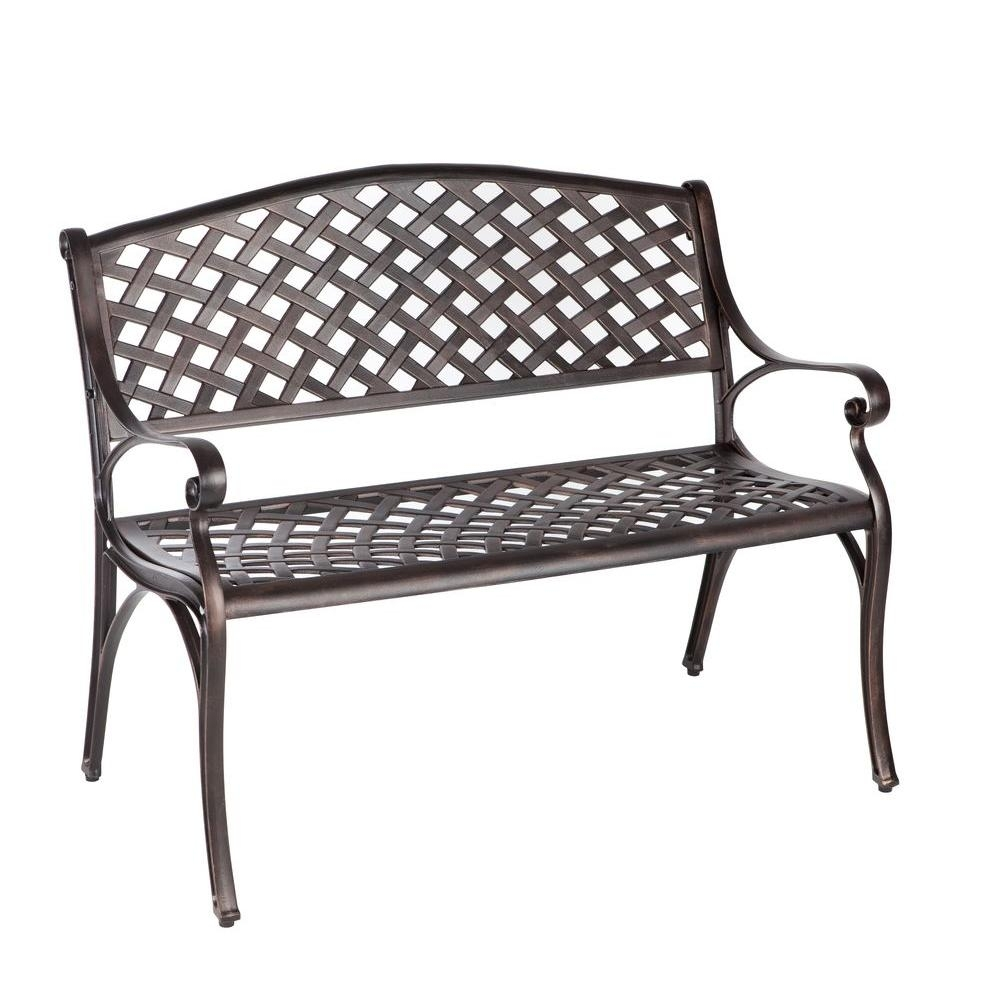 Current Outdoor Benches – Patio Chairs – The Home Depot With Garten Storm Chairs With Espresso Finish Set Of  (#4 of 20)