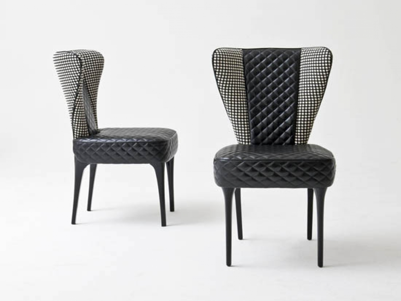 Current Quilted Black Dining Chairs Inside Dining Room: Wingback Dining Chair (View 10 of 20)