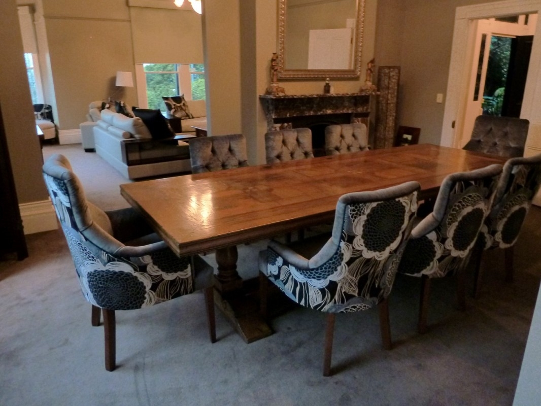 Custom Upholstered Dining Chairs Stylish Interesting Parsons Skirted Inside Most Popular Grady Side Chairs (#4 of 20)