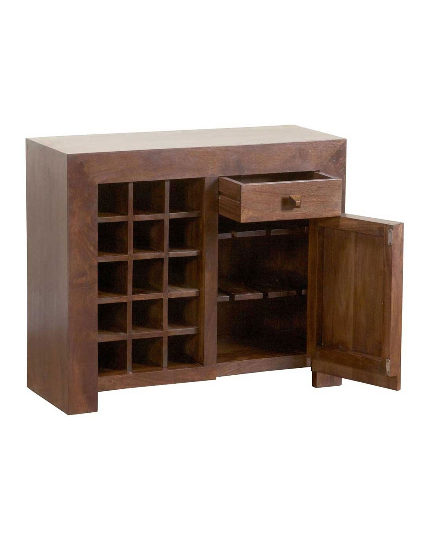 Dakota Sideboard With Wine Rack Dark Shade – Homescapes Intended For Most Recent Bale Rustic Grey Sideboards (#8 of 20)