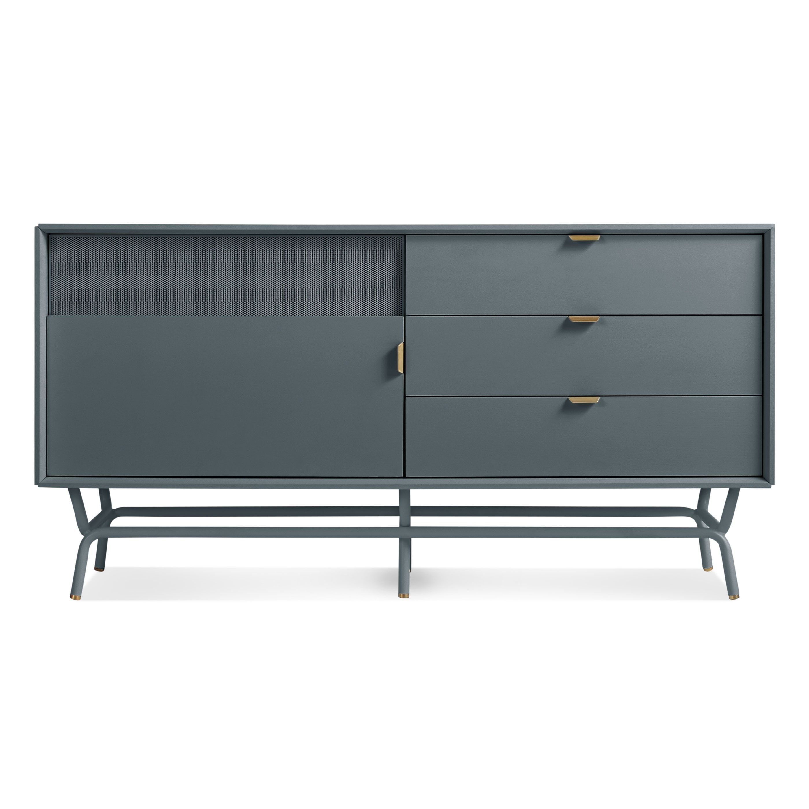 Dang 1 Door / 3 Drawer Console – Marine Blue | Sexy Furniture For For Best And Newest Jaxon Grey Sideboards (#5 of 20)