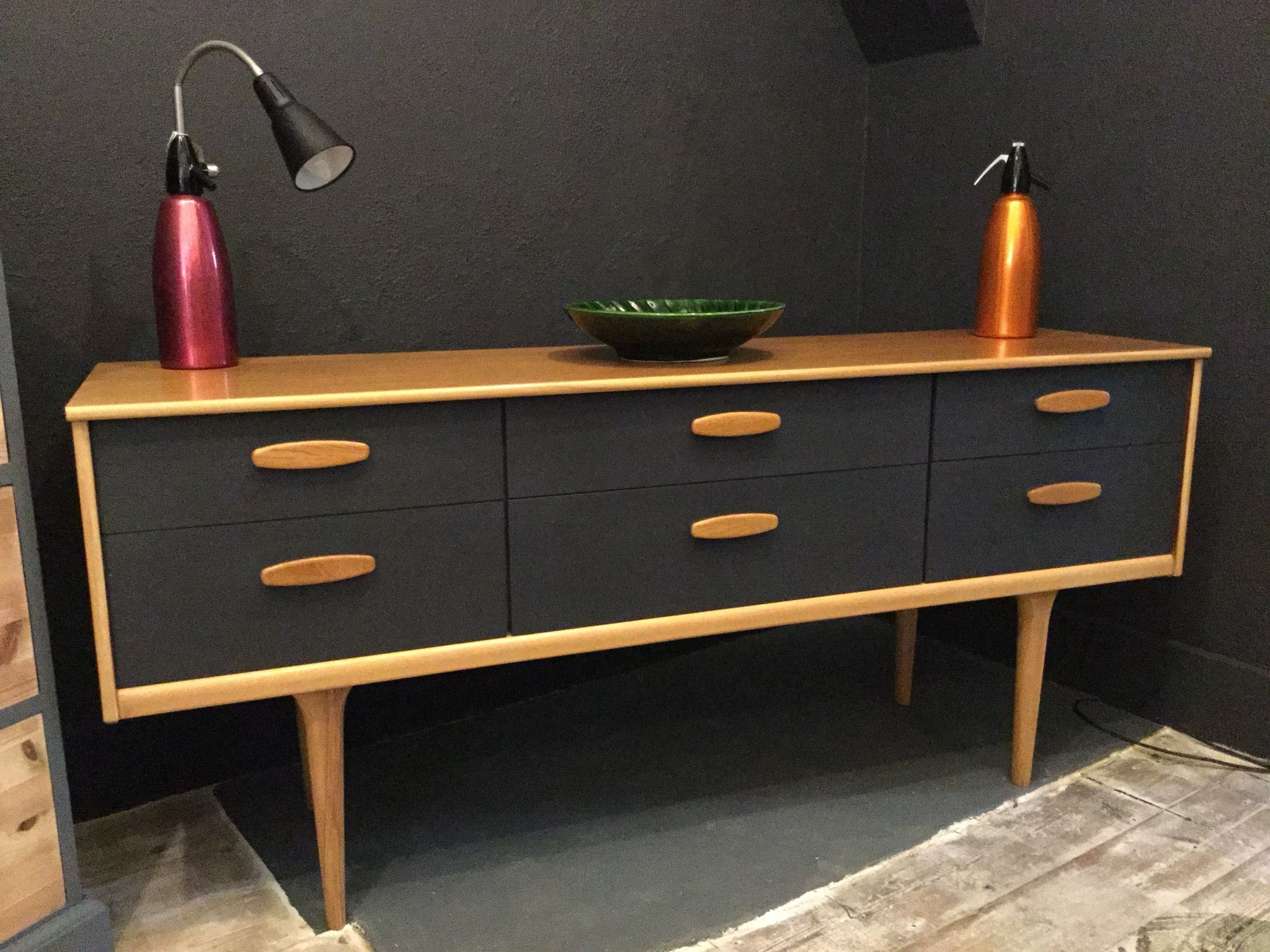 Inspiration about Danish Style Retro Sideboard Painted In Graphiteautentico Paint For Recent Satin Black & Painted White Sideboards (#11 of 20)