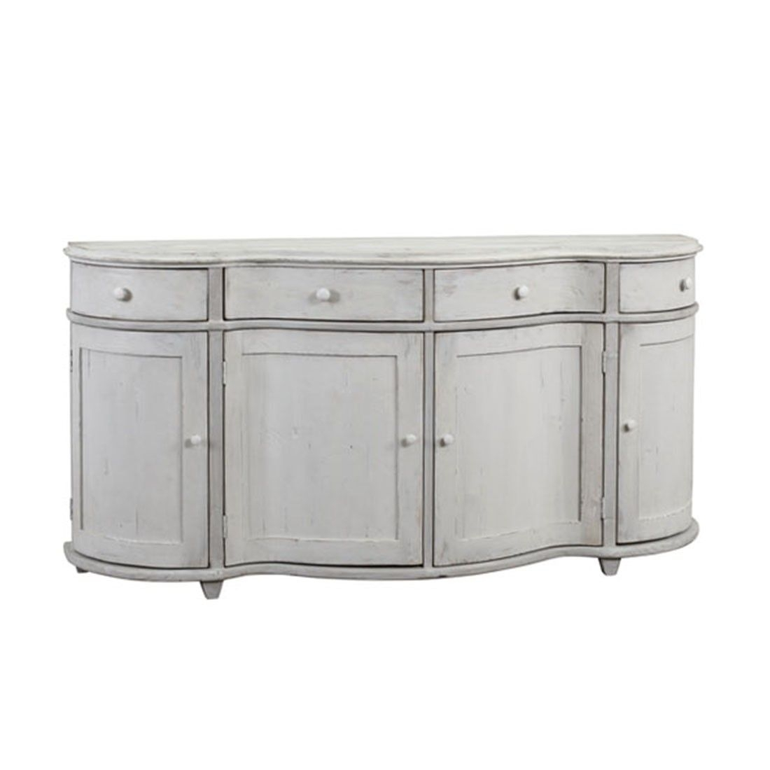"""Inspiration about Darby Sideboard • 75""""l X 20""""d X 38""""h • Gray Wash Finish • Wood • 4 Pertaining To Latest White Wash 4 Door Sideboards (#18 of 20)"""