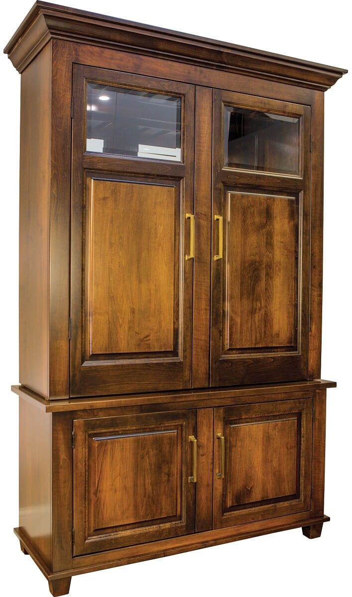 Inspiration about Deleven Hardwood Bar And Wine Cabinet – Countryside Amish Furniture Intended For Most Current Leven Wine Sideboards (#3 of 20)