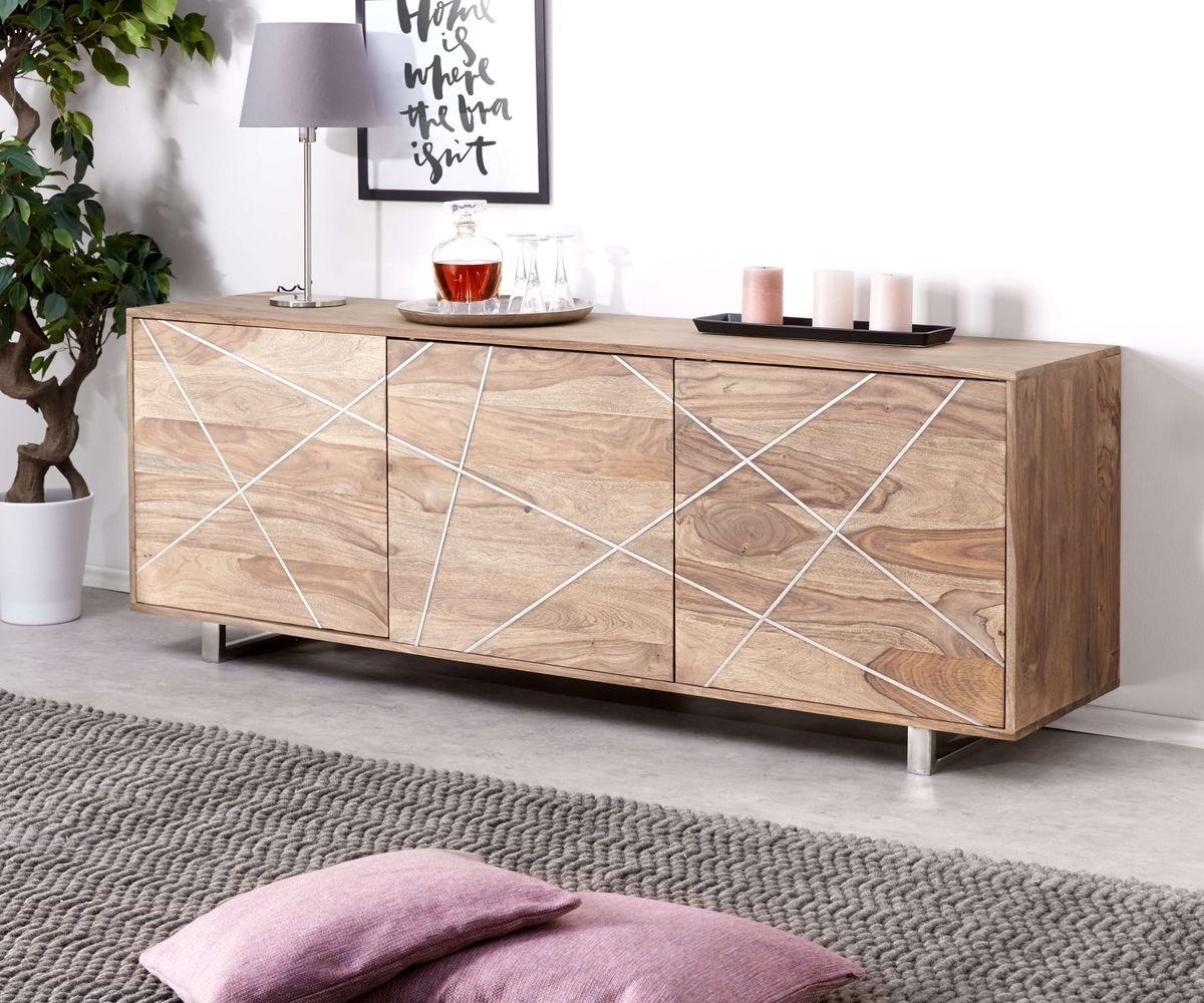 Inspiration about Designer Sideboard Wyatt 175 Cm Sheesham Natur 3 Türen Möbel Regarding Latest Wyatt Sideboards (#13 of 20)