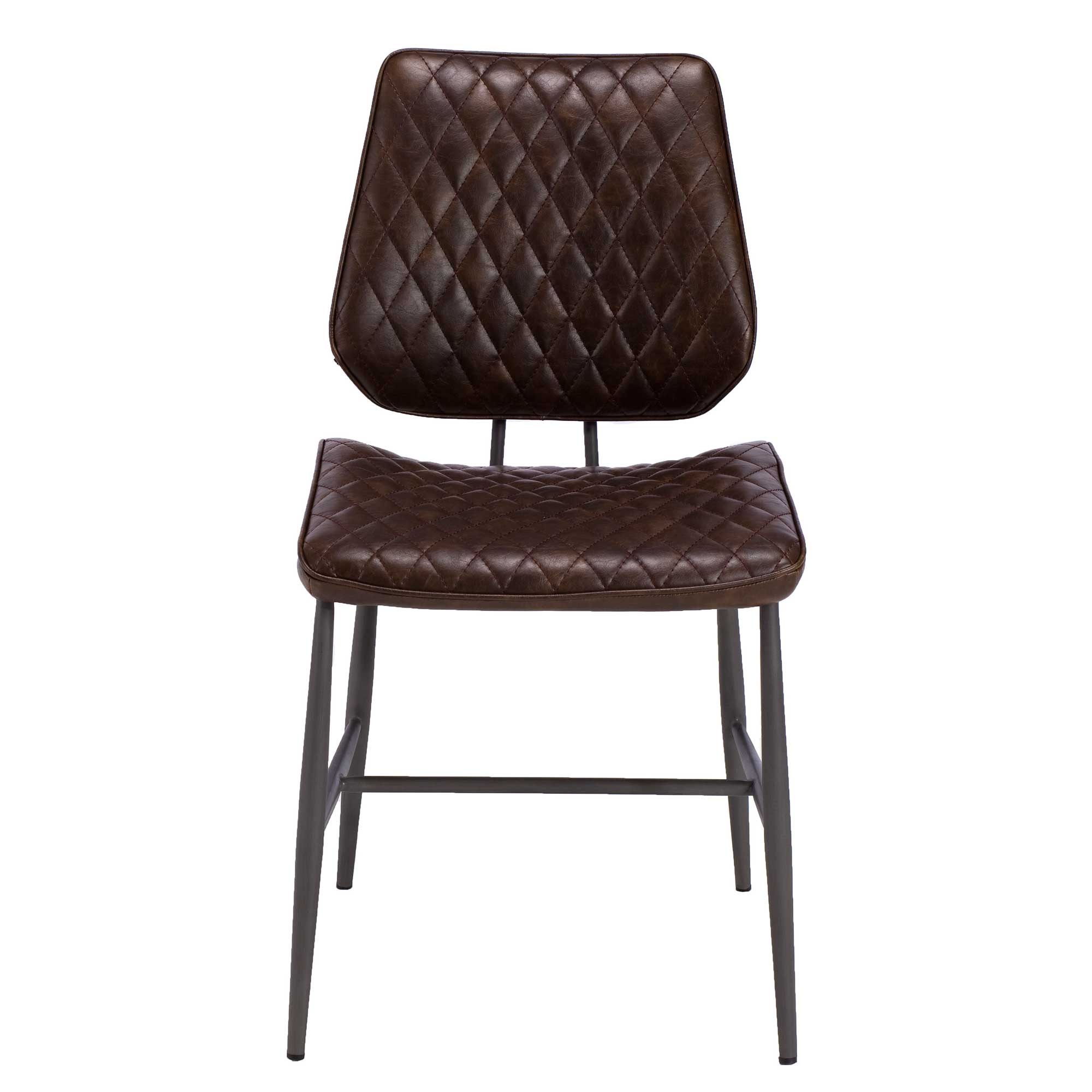 Popular Photo of Quilted Brown Dining Chairs