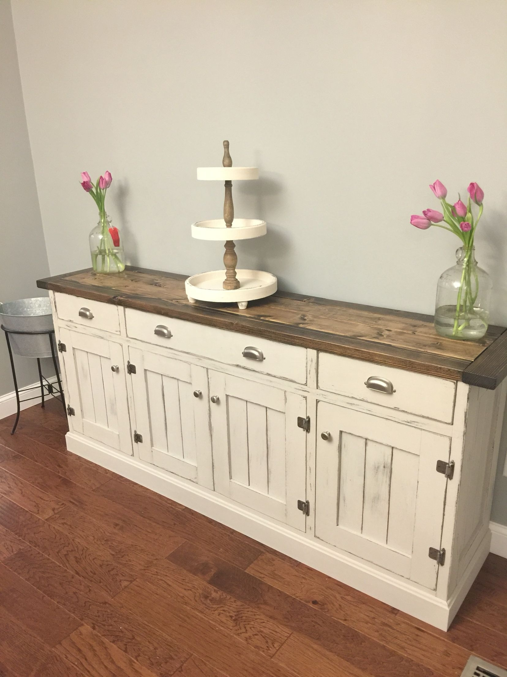 Inspiration about Dining Room Buffet So Pretty Love The Two Tone Finish! Rustic Within Most Recently Released Light Brown Reclaimed Elm & Pine 84 Inch Sideboards (#15 of 20)
