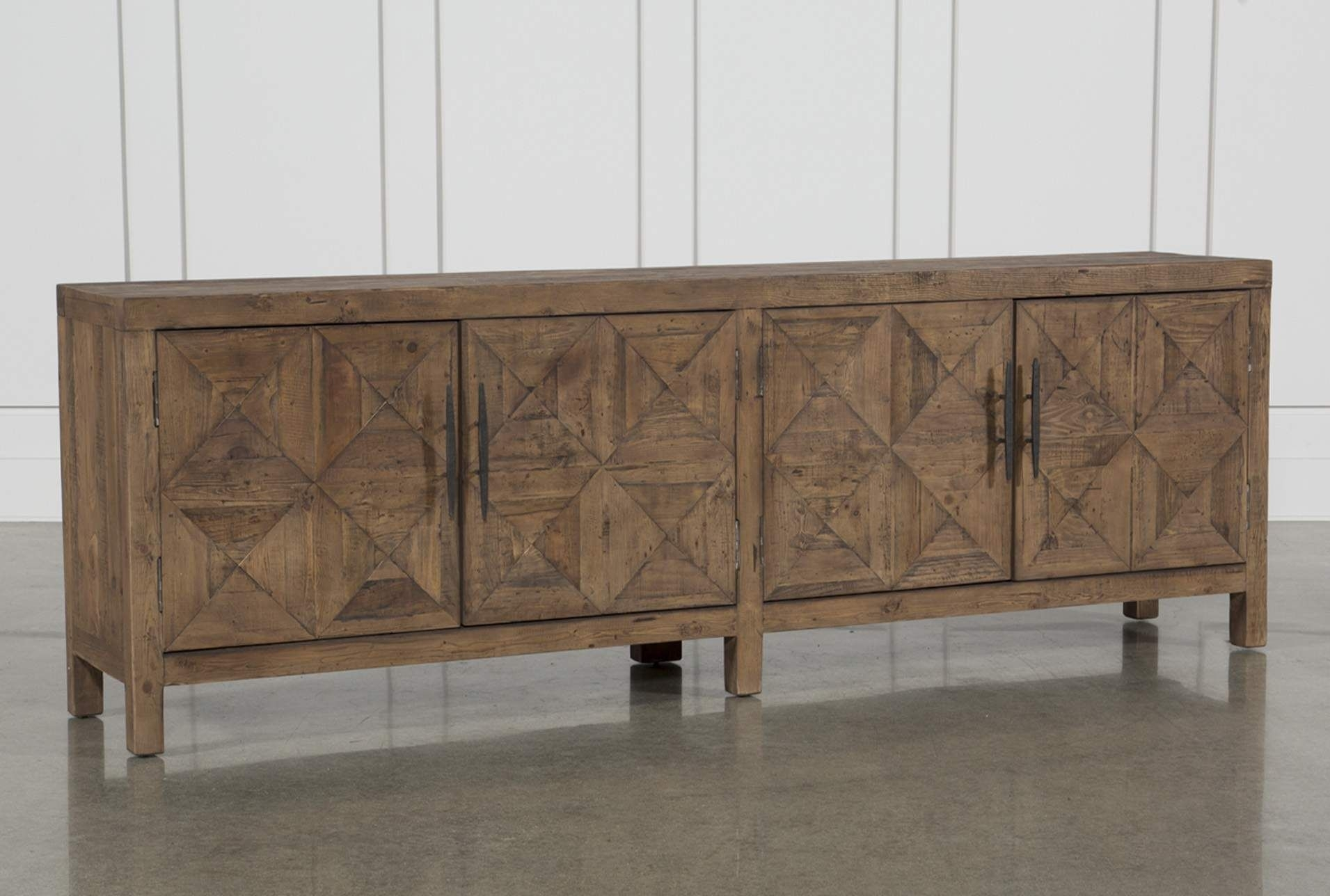 Inspiration about Distressed Natural 4 Door Sideboard | Products With Regard To Latest Mikelson Sideboards (#1 of 20)