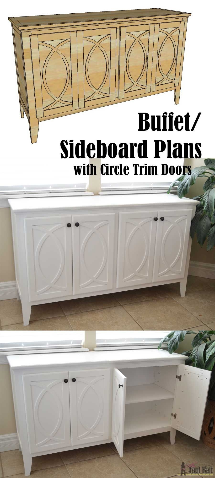 Inspiration about Diy Buffet Sideboard With Circle Trim Doors | Bloggers' Best Diy Intended For Latest Diamond Circle Sideboards (#1 of 20)