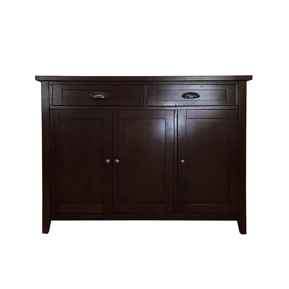 Donnieann Brookdale Dark Walnut Buffet/sideboard With 2 Drawers And In Most Up To Date 2 Drawer Sideboards (#6 of 20)