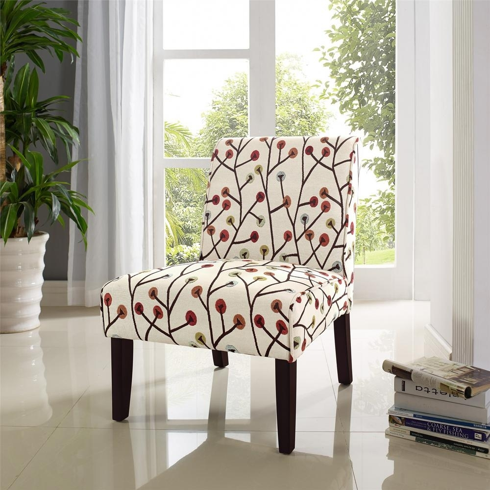 Inspiration about Dorel Living Teagan Armless Floral Accent Chair Fa164 – The Home Depot For Favorite Teagan Side Chairs (#5 of 20)