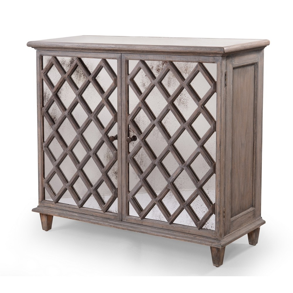 Inspiration about Dorset Antique Glass Flower Carvings Sideboard – Crown French Furniture Throughout Most Current Aged Mirrored 2 Door Sideboards (#7 of 20)