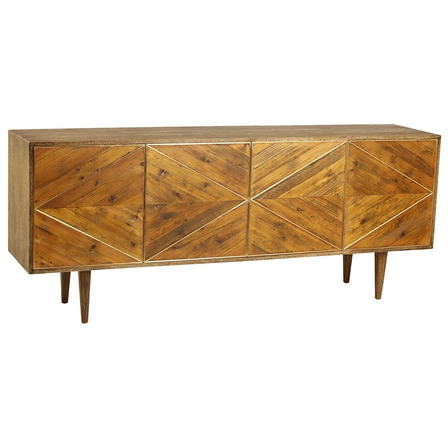 Popular Photo of Burnt Oak Bleached Pine Sideboards