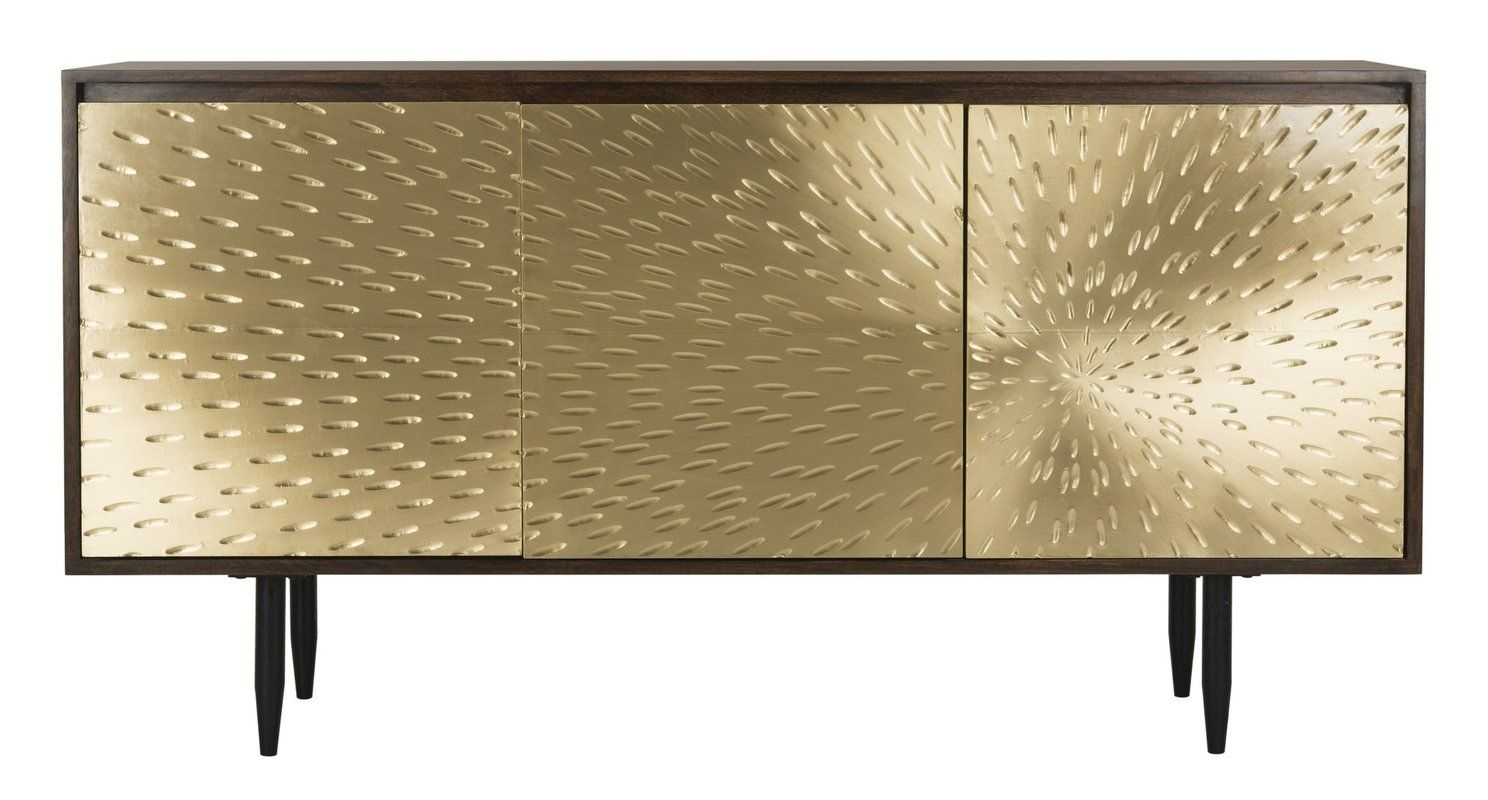 Eleni Brass Sideboard | Dining Room | Pinterest | Buffet, Sideboard In Most Up To Date Gunmetal Perforated Brass Sideboards (#15 of 20)