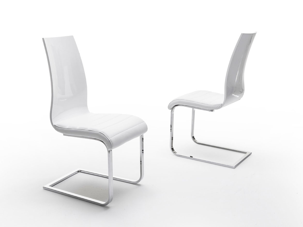Esf Furniture Valencia Chair In White (set Of 2)dining Rooms Outlet Throughout Most Recent Valencia Side Chairs (View 4 of 20)