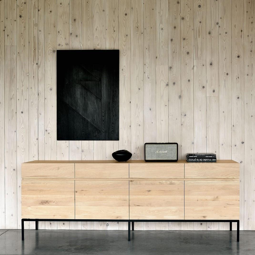Ethnicraft Ligna Oak Sideboards | Solid Wood Furniture Regarding Current 4 Door Wood Squares Sideboards (View 18 of 20)