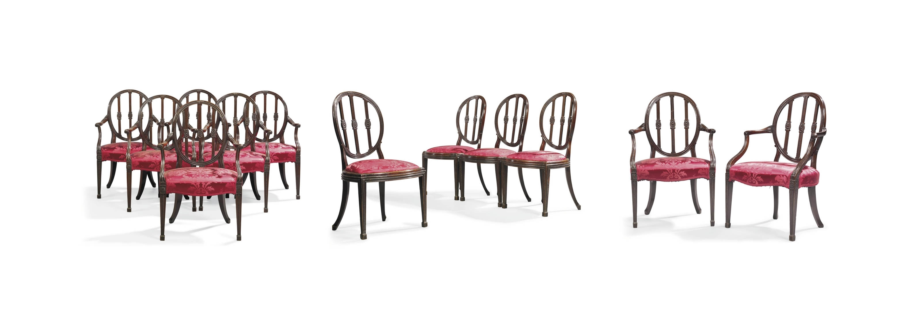 Famous A Set Of Twelve Mahogany Dining Chairs (#7 of 20)