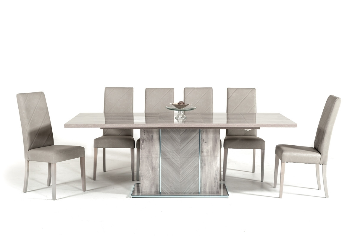 Famous Alexa Grey Side Chairs With Nova Domus Alexa Italian Modern Grey Extendable Dining Table (View 3 of 20)