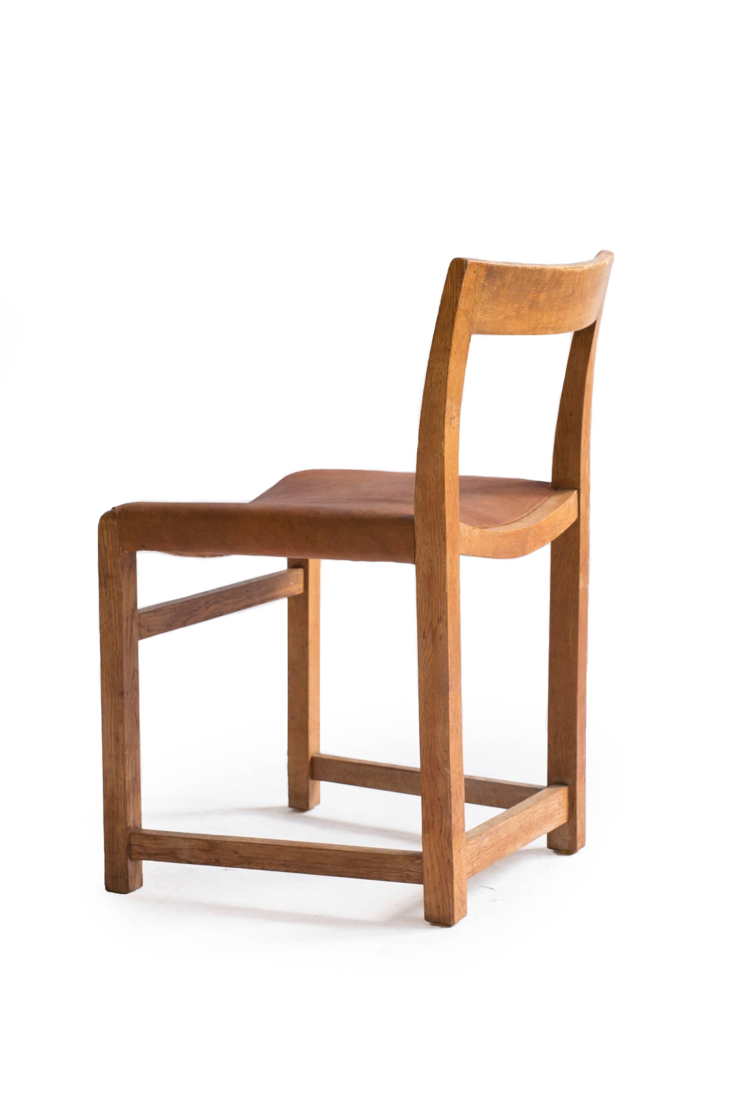 Famous Rare Mogens Lassen Oak Side Chair, 1934 At 1Stdibs Inside Lassen Side Chairs (#4 of 20)