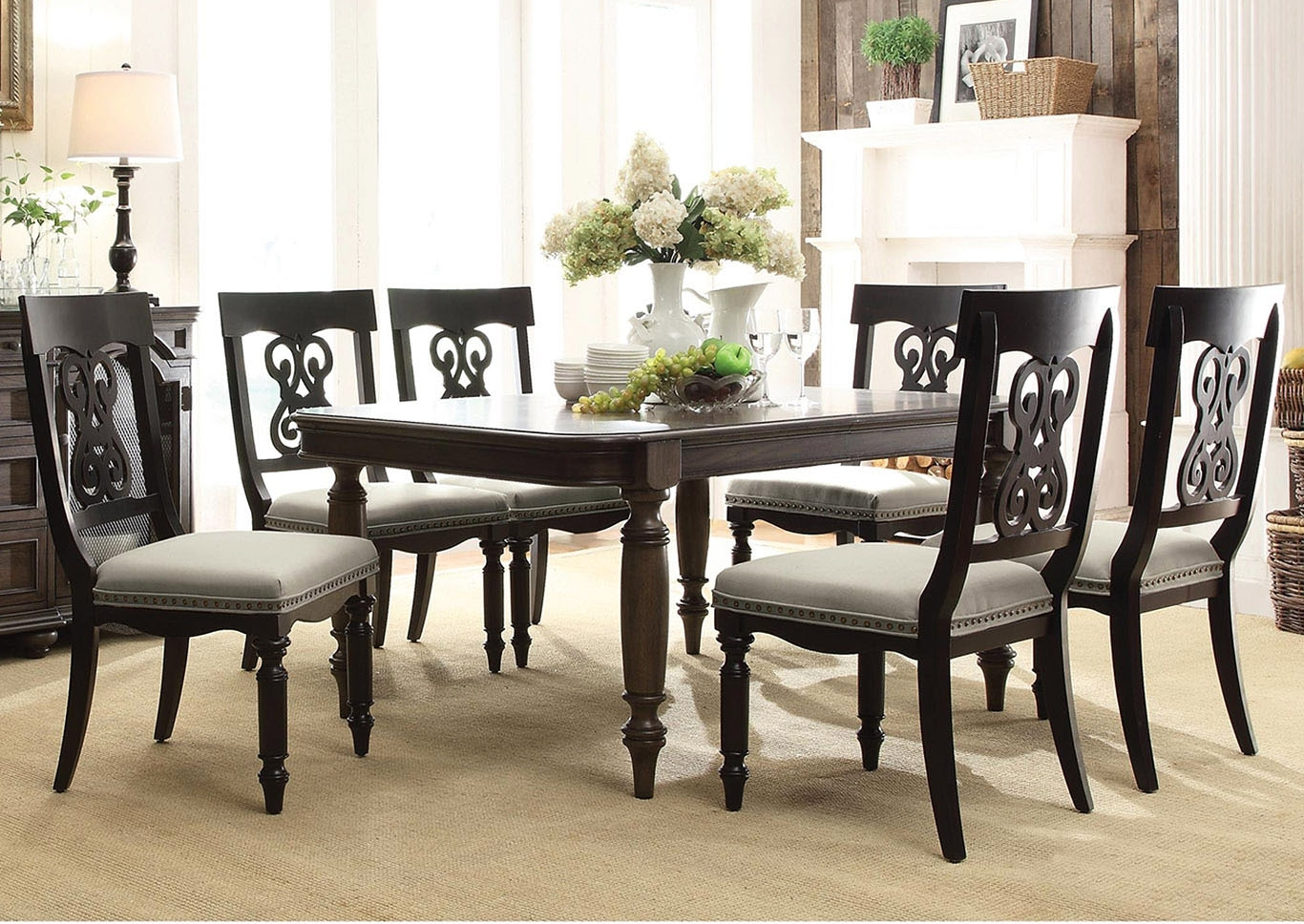 "Fashionable Belmeade Side Chairs With Regard To Utah Furniture Direct Belmeade 78"" Extension Leaf Dining Table W/ (#10 of 20)"