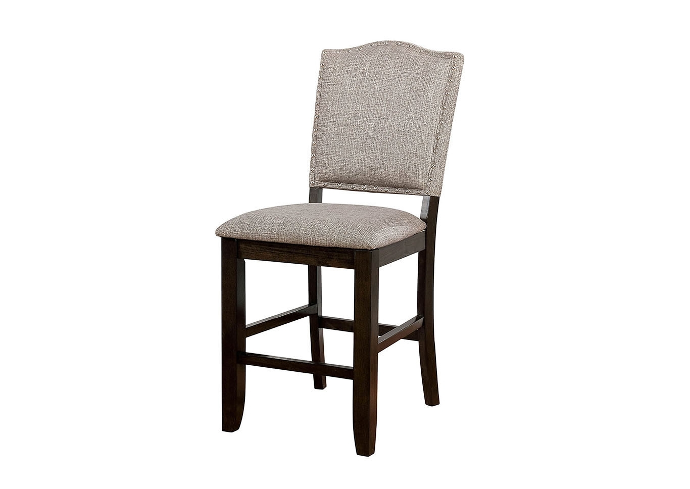 Fashionable Foothills Family Furniture Teagan Dark Walnut Counter Height Chair Inside Teagan Side Chairs (#6 of 20)