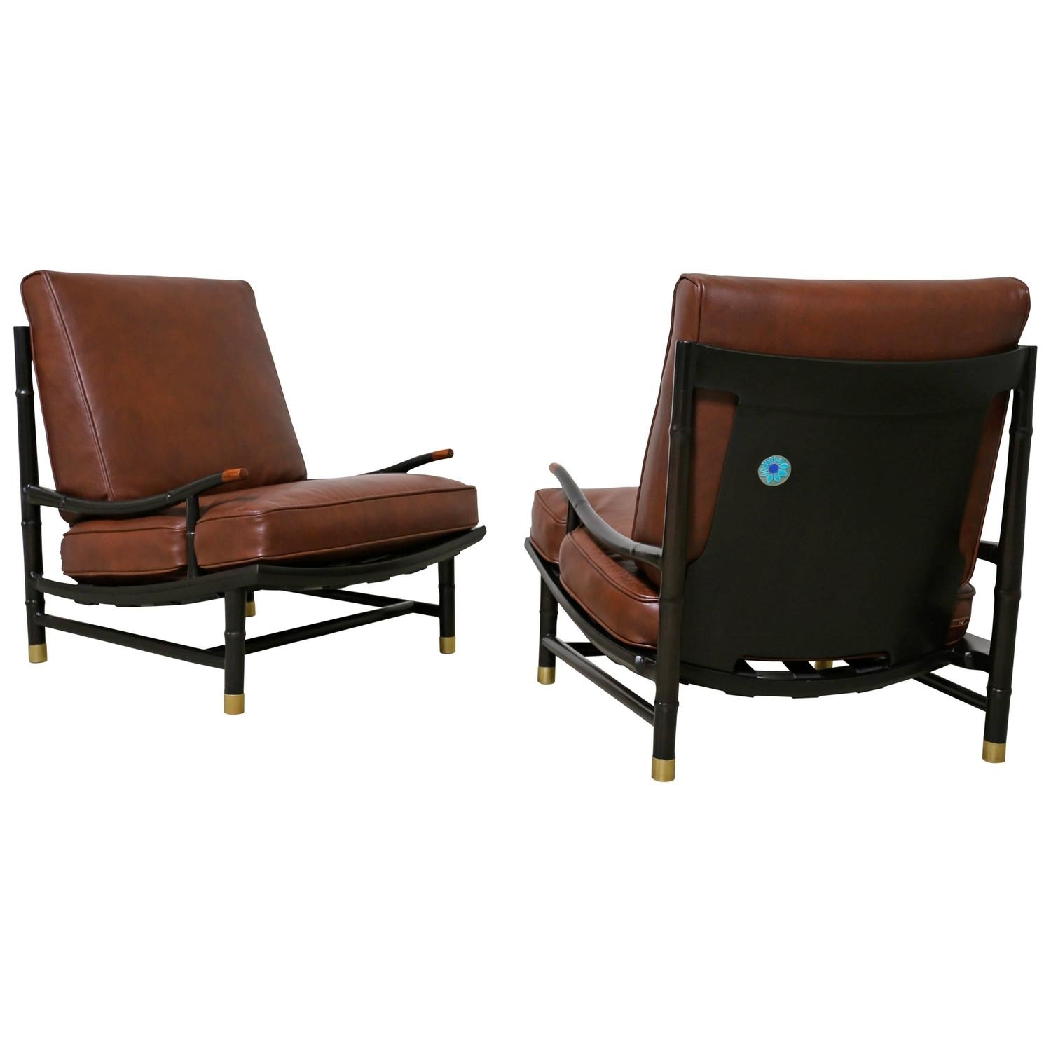 Fashionable Kyle Side Chairs For Pr Frank Kyle Mexican Mid Century Modernist Wood, Brass And Wicker (#7 of 20)