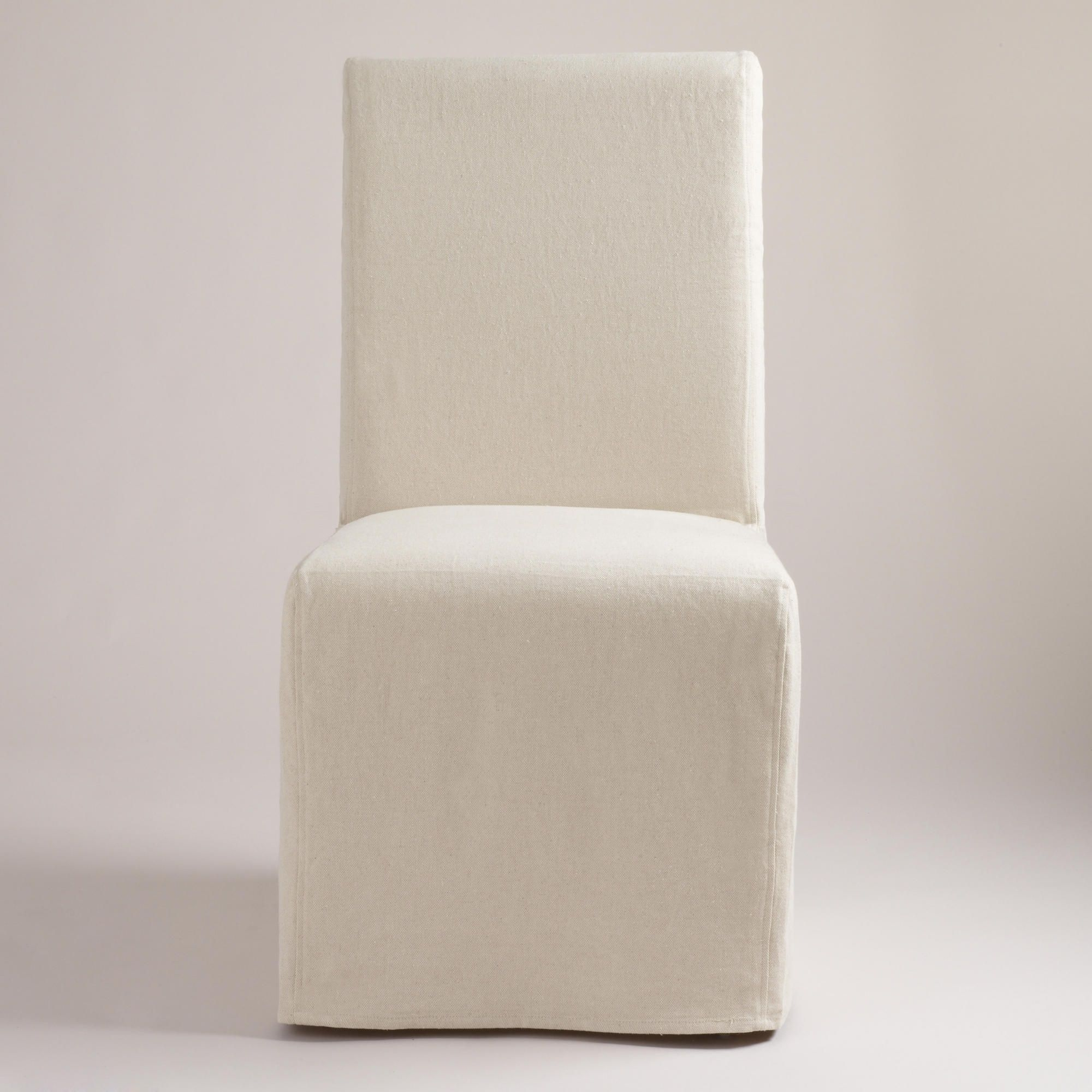 Fashionable Pearson Grey Slipcovered Side Chairs In Linen Anna Long Chair Slipcovers, Set Of  (#5 of 20)