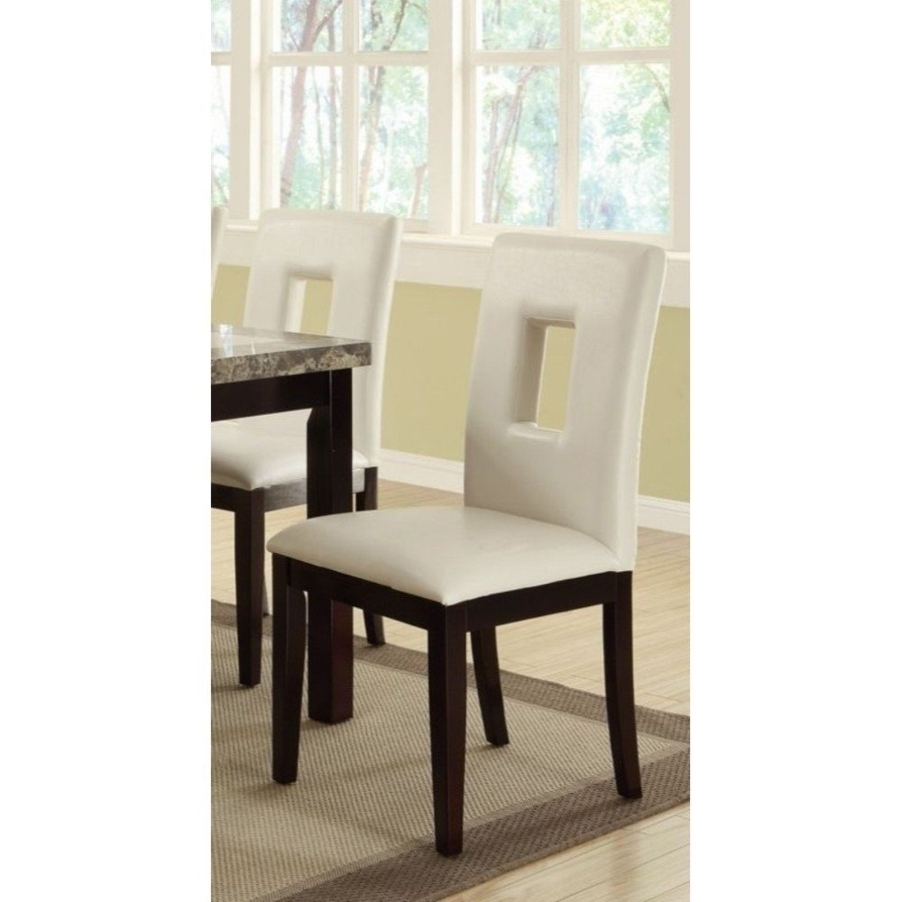 Fashionable Pine Wood White Dining Chairs Inside Classic Pine Wood Dining Chairs, Set Of 2, White And Brown – Free (#3 of 20)