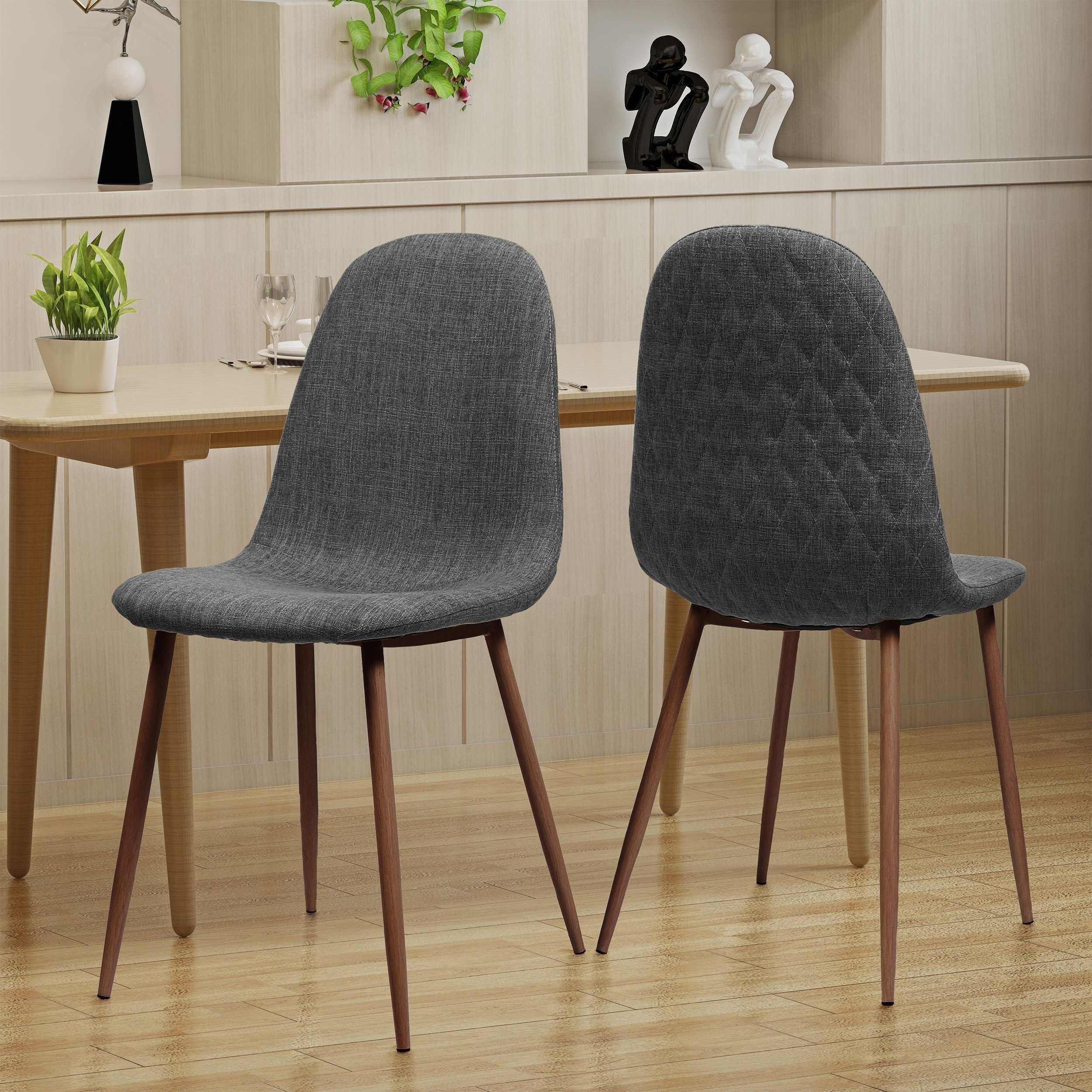 Fashionable Shop Caden Mid Century Fabric Dining Chair (Set Of 2)Christopher Pertaining To Caden Side Chairs (#10 of 20)