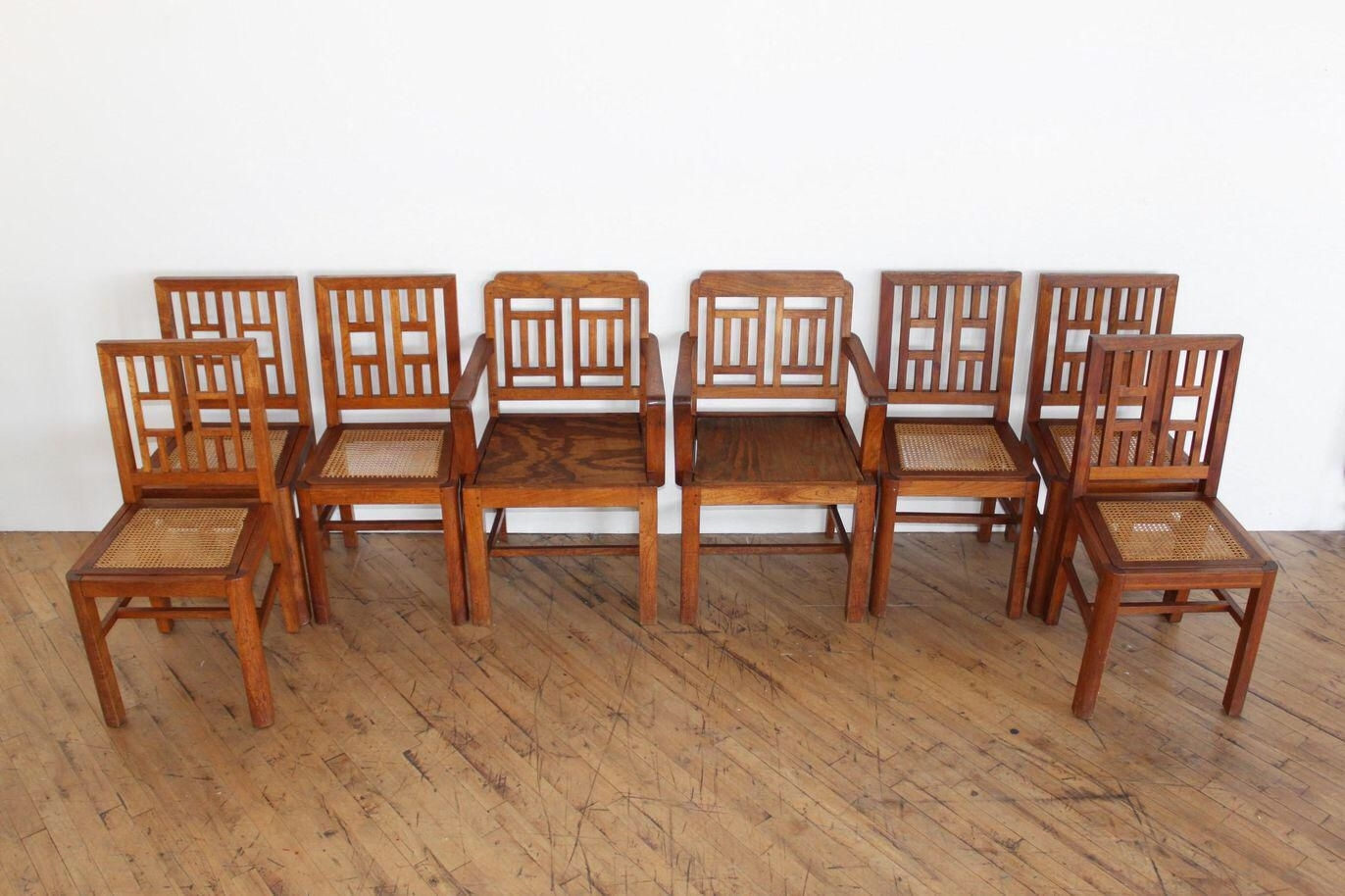 Favorite Antique Arts & Crafts Chairs  Hand Caned Craftsman Oak Intended For Craftsman Side Chairs (#12 of 20)
