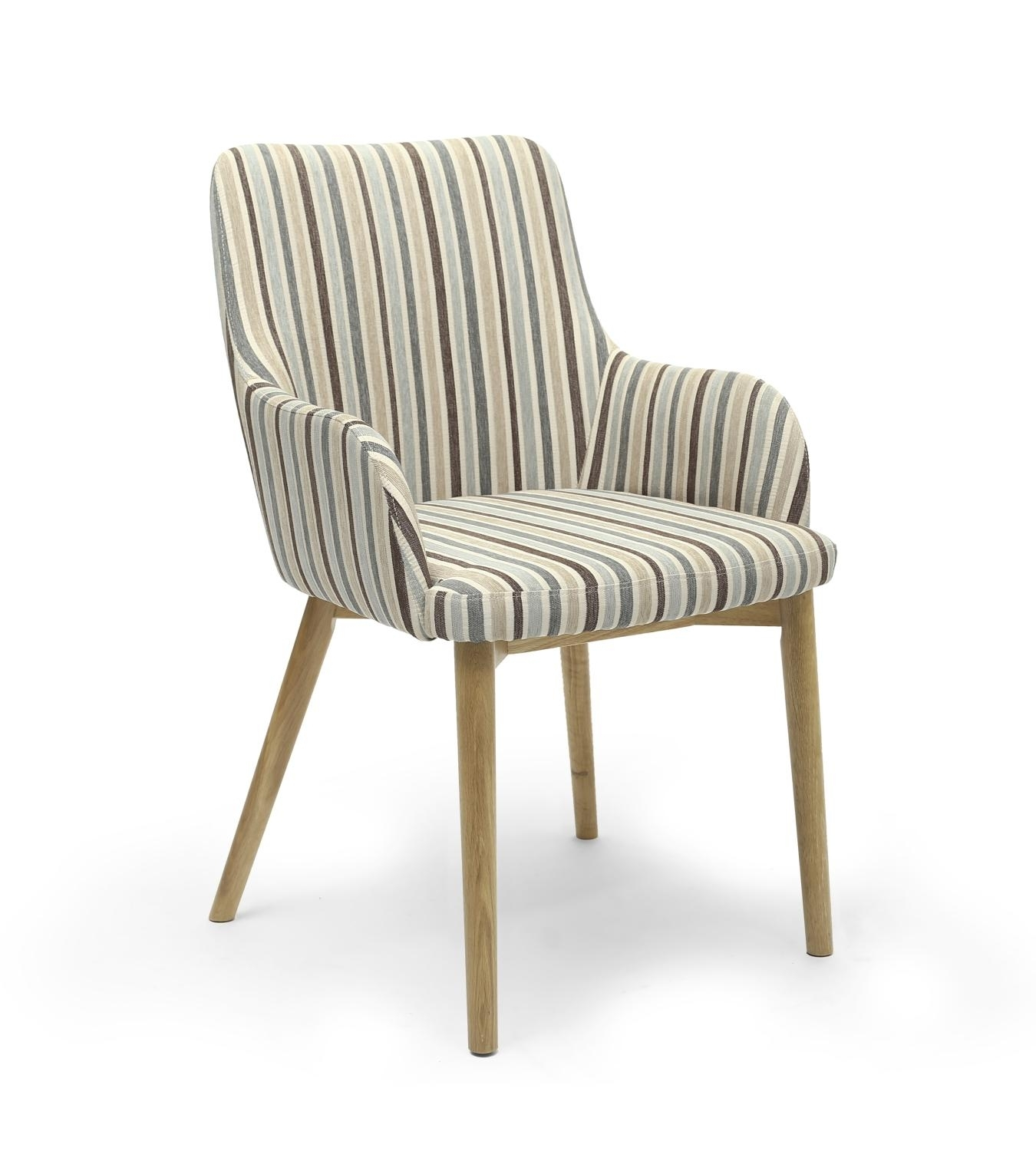 Favorite Blue Stripe Dining Chairs Pertaining To Sidcup Duck Egg Blue Stripe Dining Chair – L'amore Furnishings (View 3 of 20)