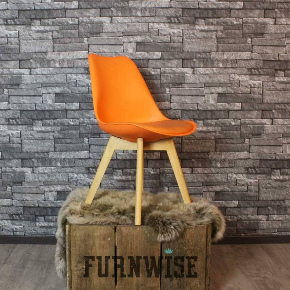Favorite Caden Plastic Dining Chair Orange – Shipped Within 24 Hours! – Furnwise Intended For Caden Side Chairs (#11 of 20)
