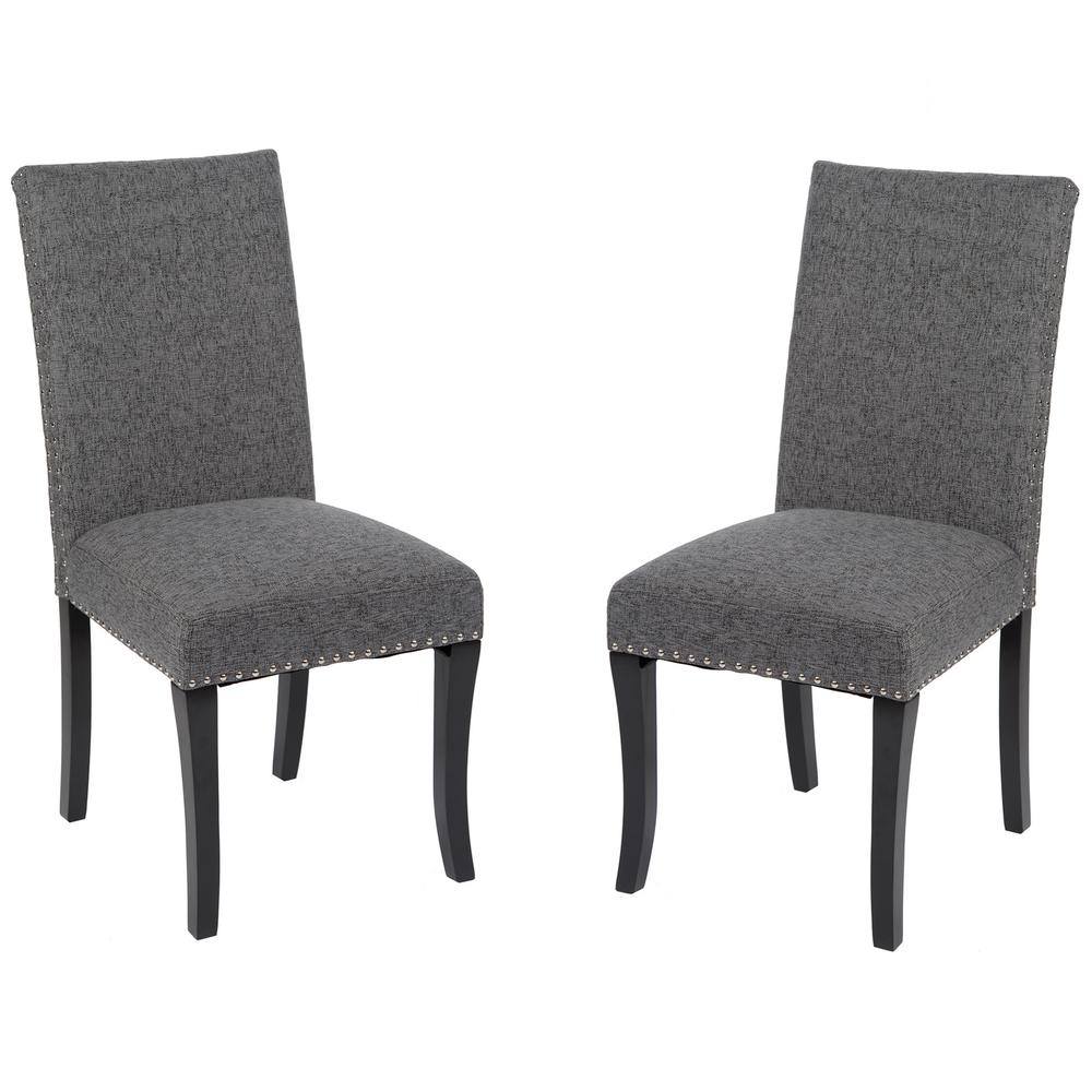 Favorite Charcoal Dining Chairs With Regard To Armen Living Deborah 40 In (View 11 of 20)