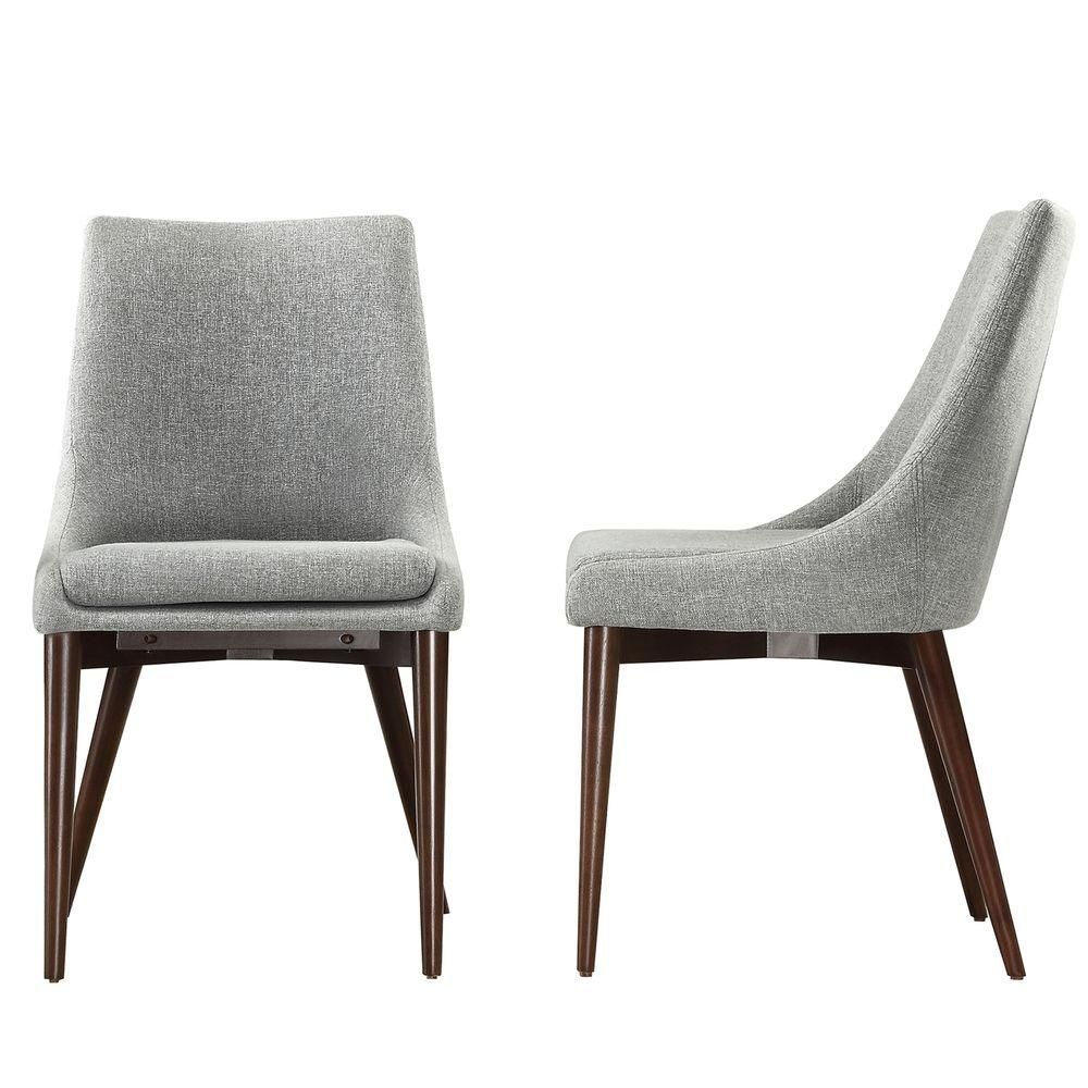 Favorite Grey Dining Chairs In Homesullivan Nobleton Cool Grey Dining Chair (Set Of 2) 405048S2Pc (#3 of 20)