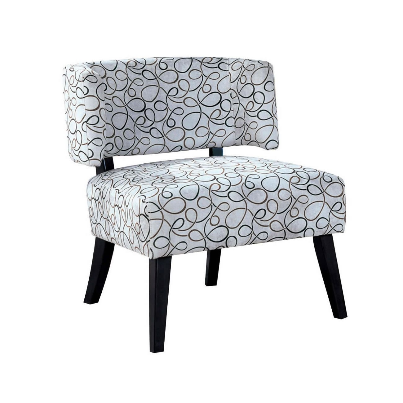 Features: Transitional Styling Curved Back And Full Size Seat With Regard To Best And Newest Pilo Grey Side Chairs (View 16 of 20)