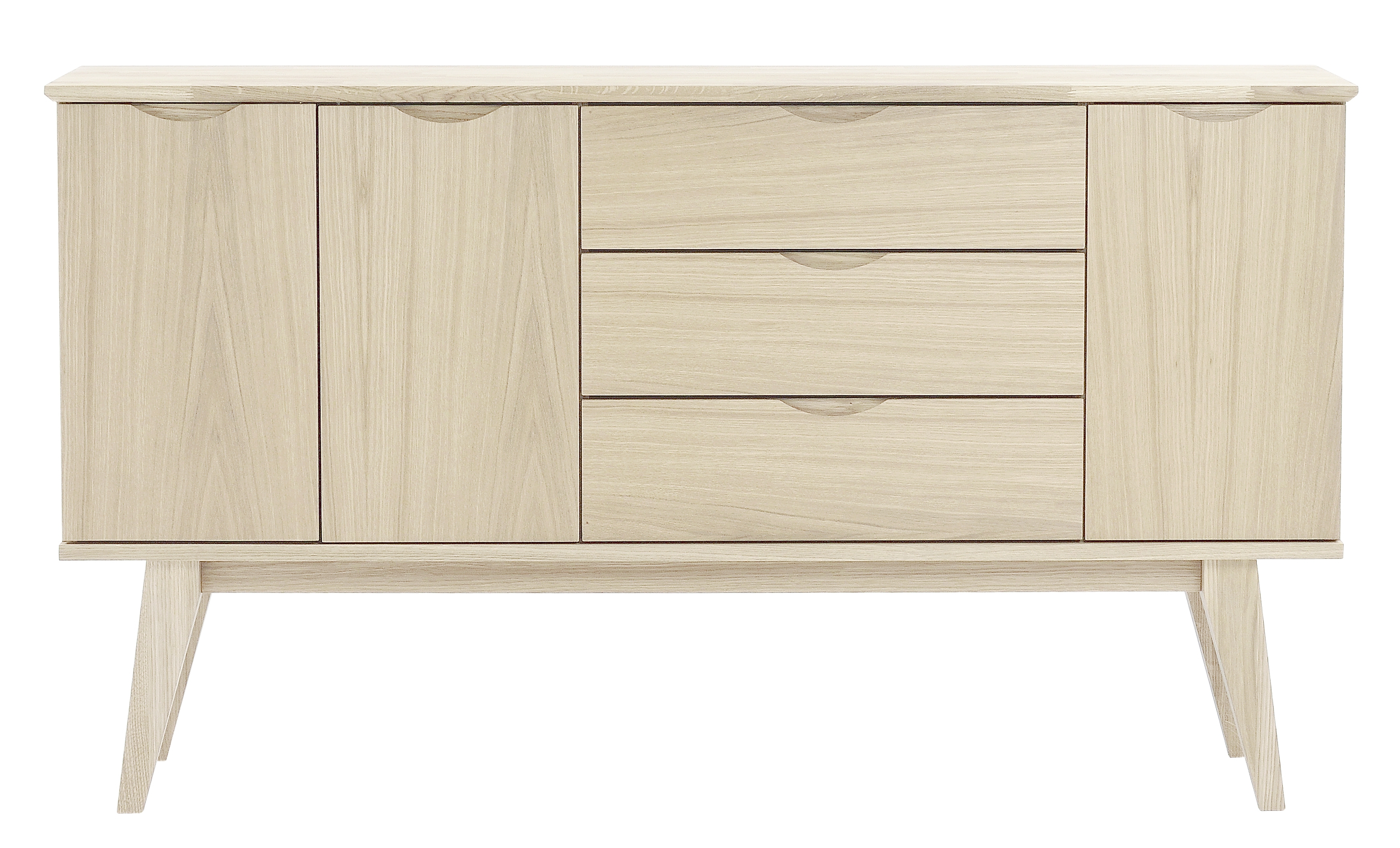 Filippa Sideboard – Whitewash – 113786 | Furniture From Rowico With Latest White Wash 3 Door 3 Drawer Sideboards (View 5 of 20)