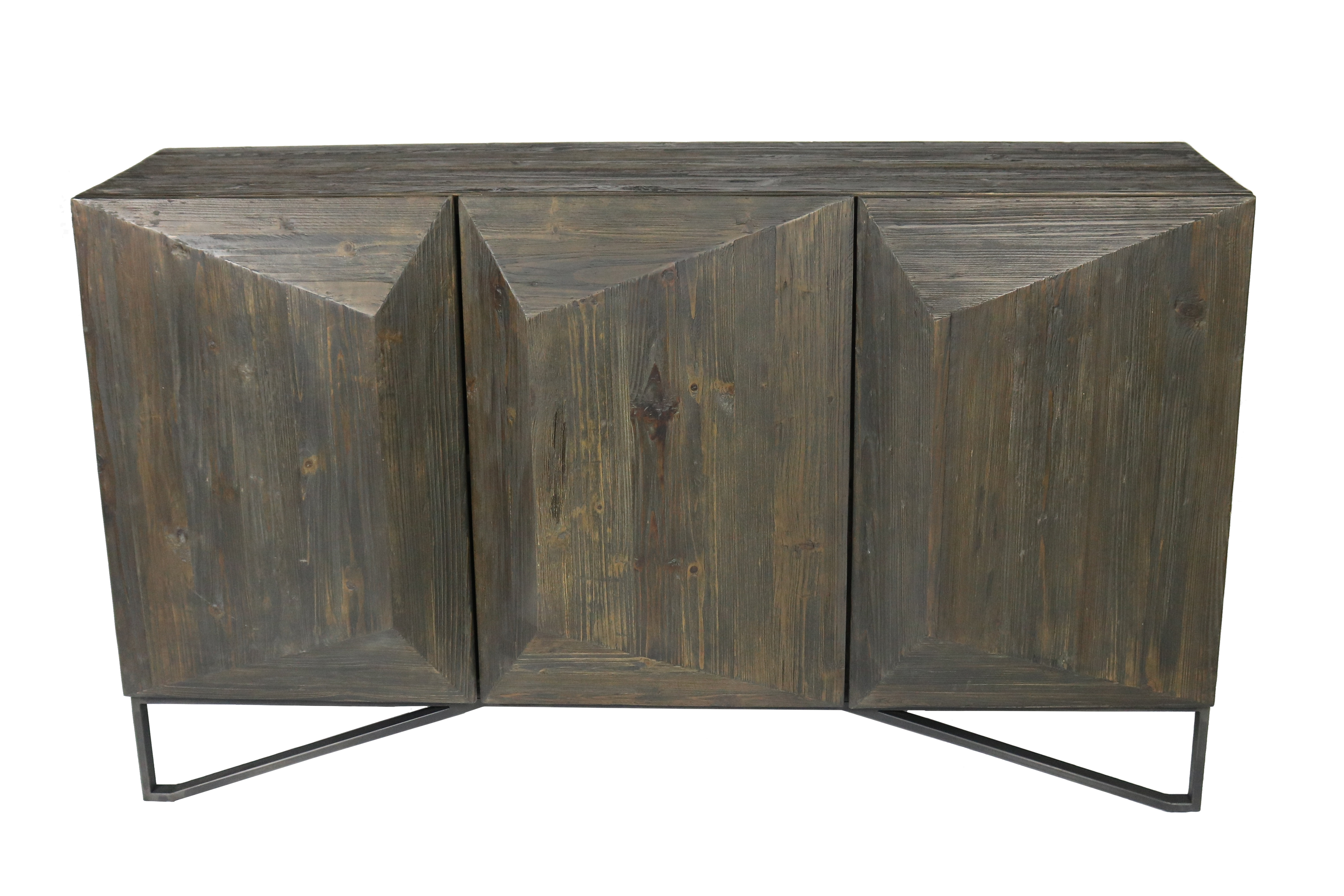 Foundry Select Amundson 3 Door Sideboard | Wayfair Intended For Recent Reclaimed Pine & Iron 4 Door Sideboards (View 13 of 20)