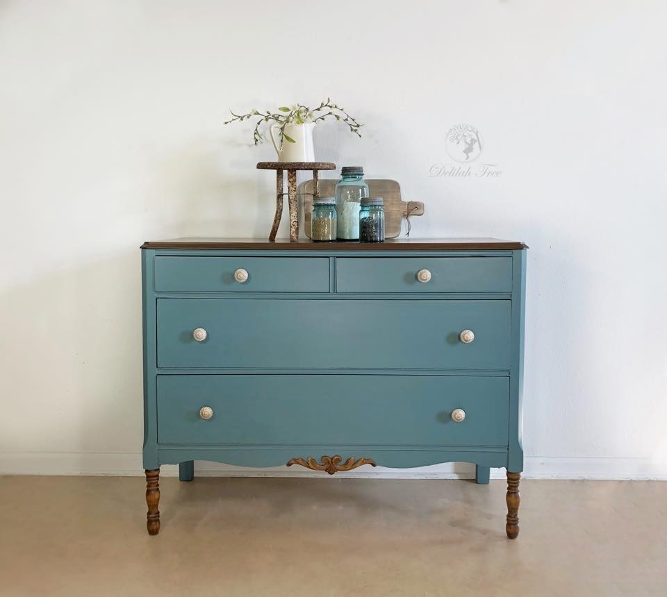 Furniture Design Ideas Featuring Chalk Style Paint | General Intended For Most Recent Satin Black & Painted White Sideboards (View 6 of 20)