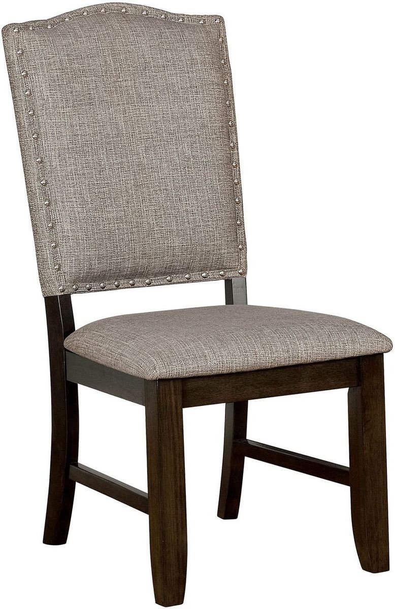Furniture Of America Teagan 2 Piece Side Chair In Dark Walnut Intended For Famous Teagan Side Chairs (#7 of 20)