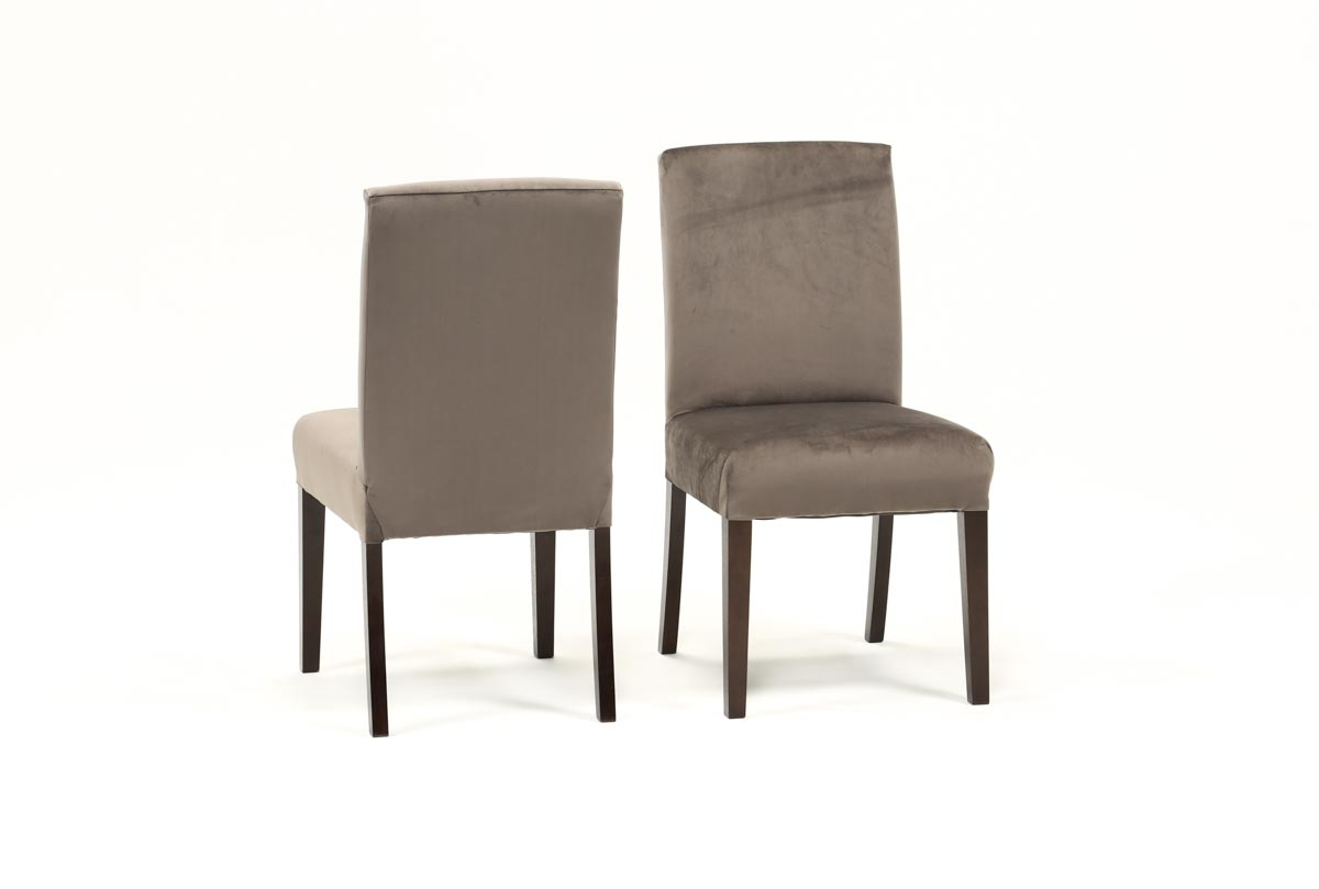 Garten Pashmina Skirted Side Chairs Set Of 2 With Regard To Most Popular Garten Caviar Chairs W/espresso Finish Set Of  (#10 of 20)